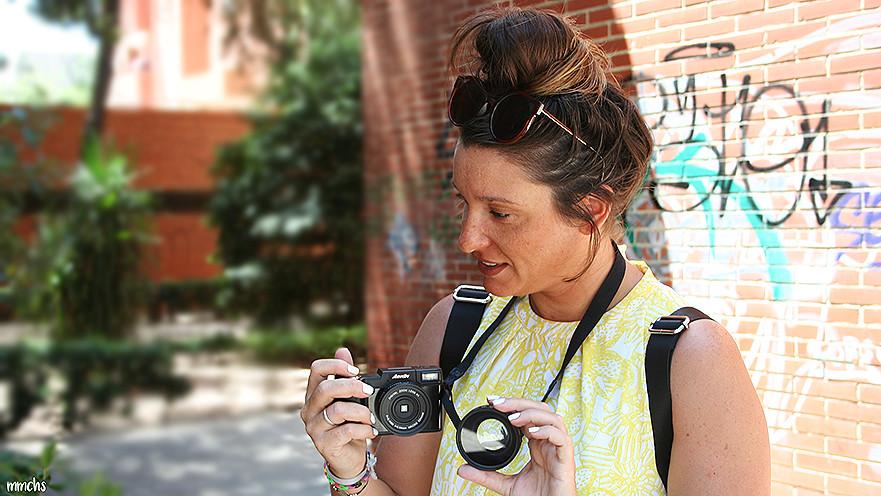 cámara digital amkow objetivo desmontable