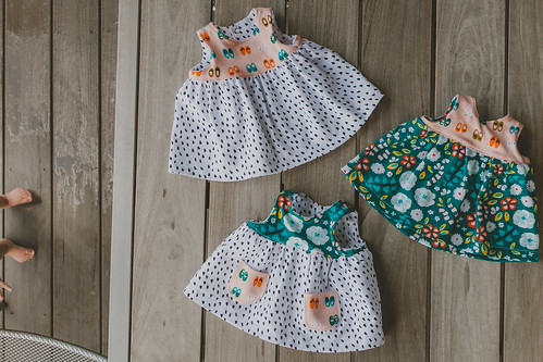 Knit Geranium Dresses + BABY FEET! | by frommartawithlove