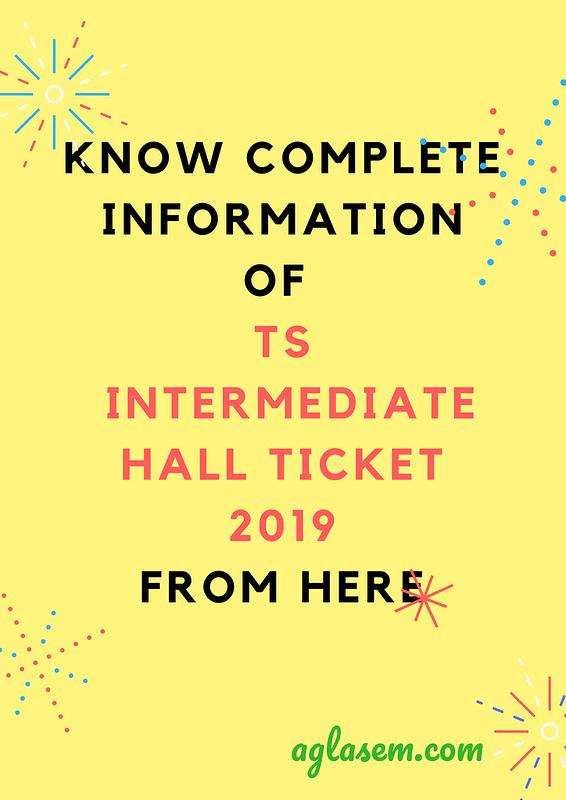 TS Intermediate Hall Ticket 2019