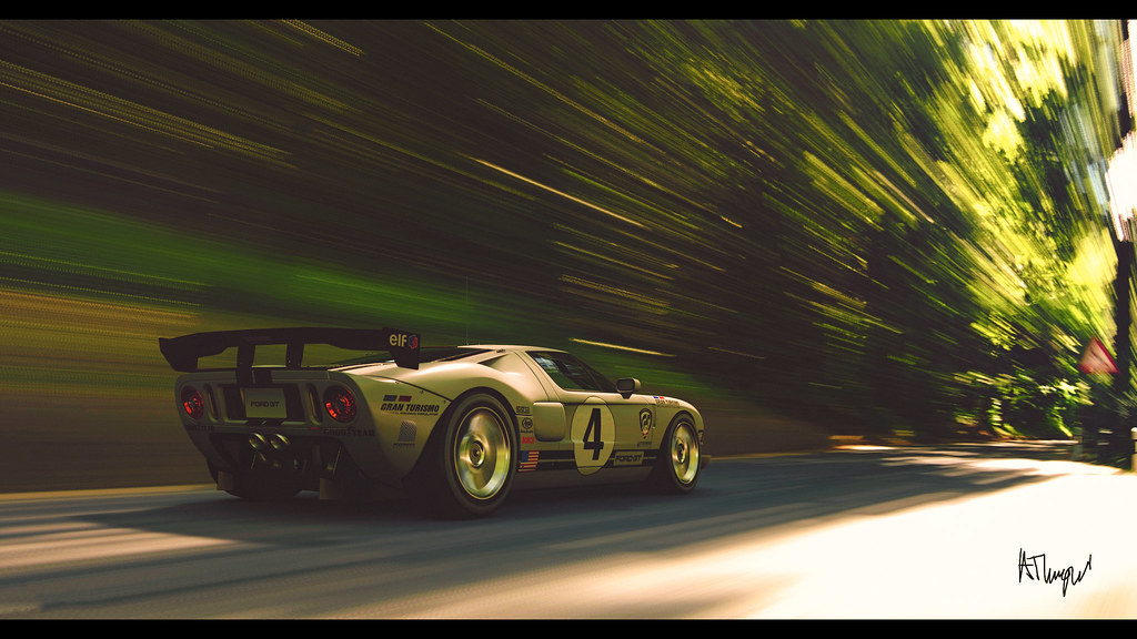 Ford Gt Lm Race Car By At