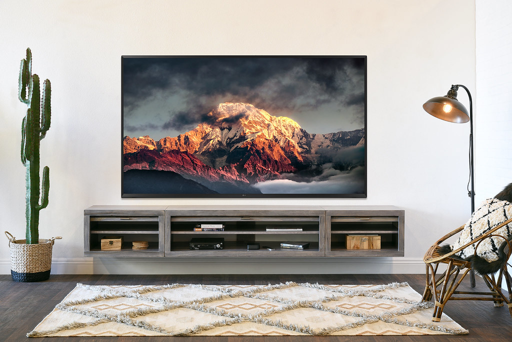 Modern Gray Floating Wall Mounted Tv Stand Entertainment C Flickr