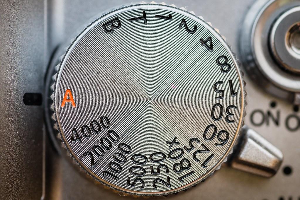 Shutter Speed, 2018 - Detail of the shutter speed dial of a
