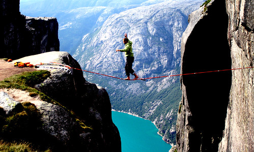 Christian Schou over Kjerag IV (Western Norway) | by Augneblinken