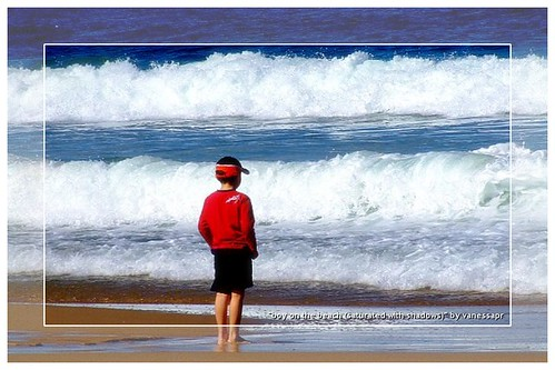 Boy at the beach (framed) | by Vanessa Pike-Russell