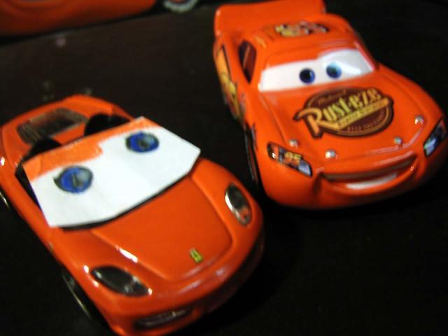 Lightning McQueen meets Michael Schumacher Ferrari, part 2 ...
