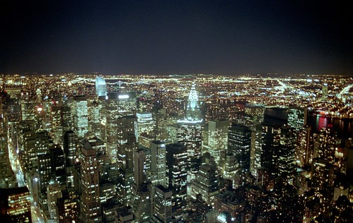View from the Empire State Building at Night | by Alex Eckford