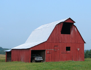 Red Barn and Truck | by cindy47452