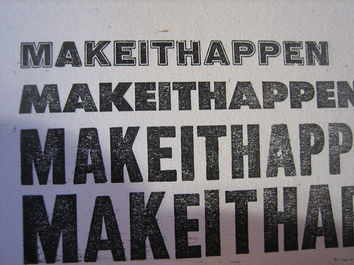 MAKEITHAPPEN Print (for Mike) | by YACHT