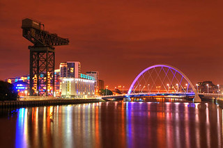 Glasgow city, Clyde at night | by Kenny Muir