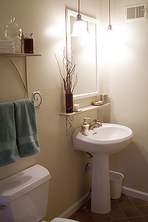Pedestal Sink The Bathroom Is Done Mayfly Alicia Flickr
