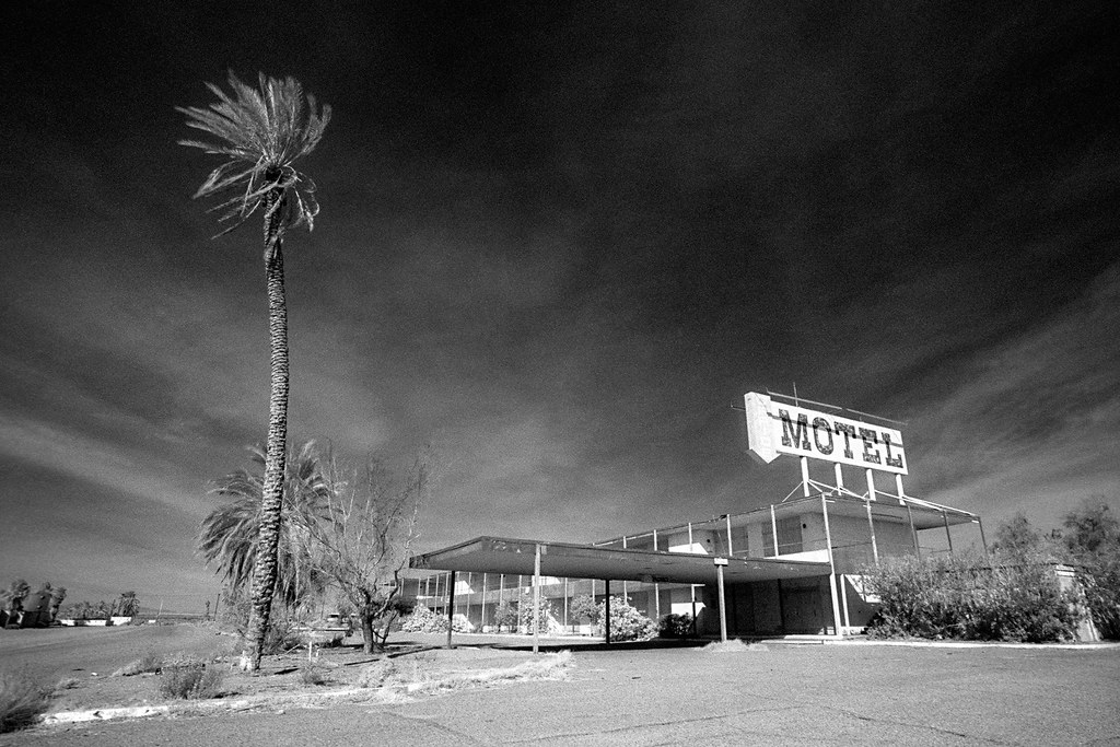 Abandoned Motel Infrared Salton Sea Ca 2000 Scans
