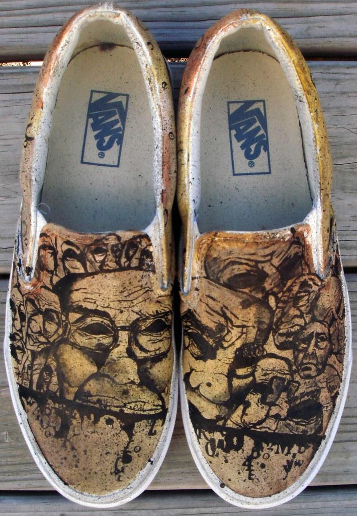 Custom Vans For Sale >> vans slip ons custom | Custom Vans Slip Ons Size US 9 1/2. F… | Flickr