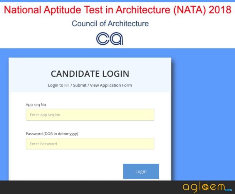 NATA 2018 Admit Card / Hall Ticket (Released)   Download Here NATA Admit Card