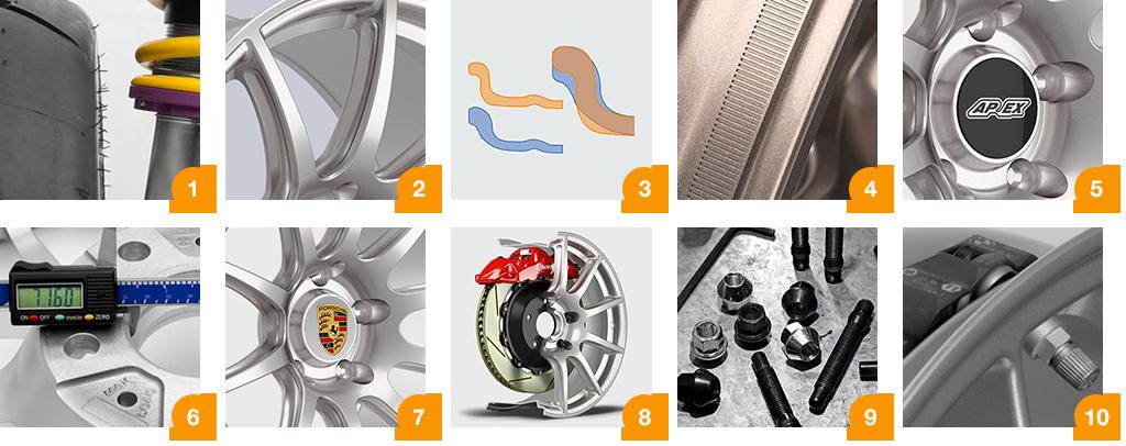 ▻ APEX | SM-10 Lightweight Track Wheels for Porsche