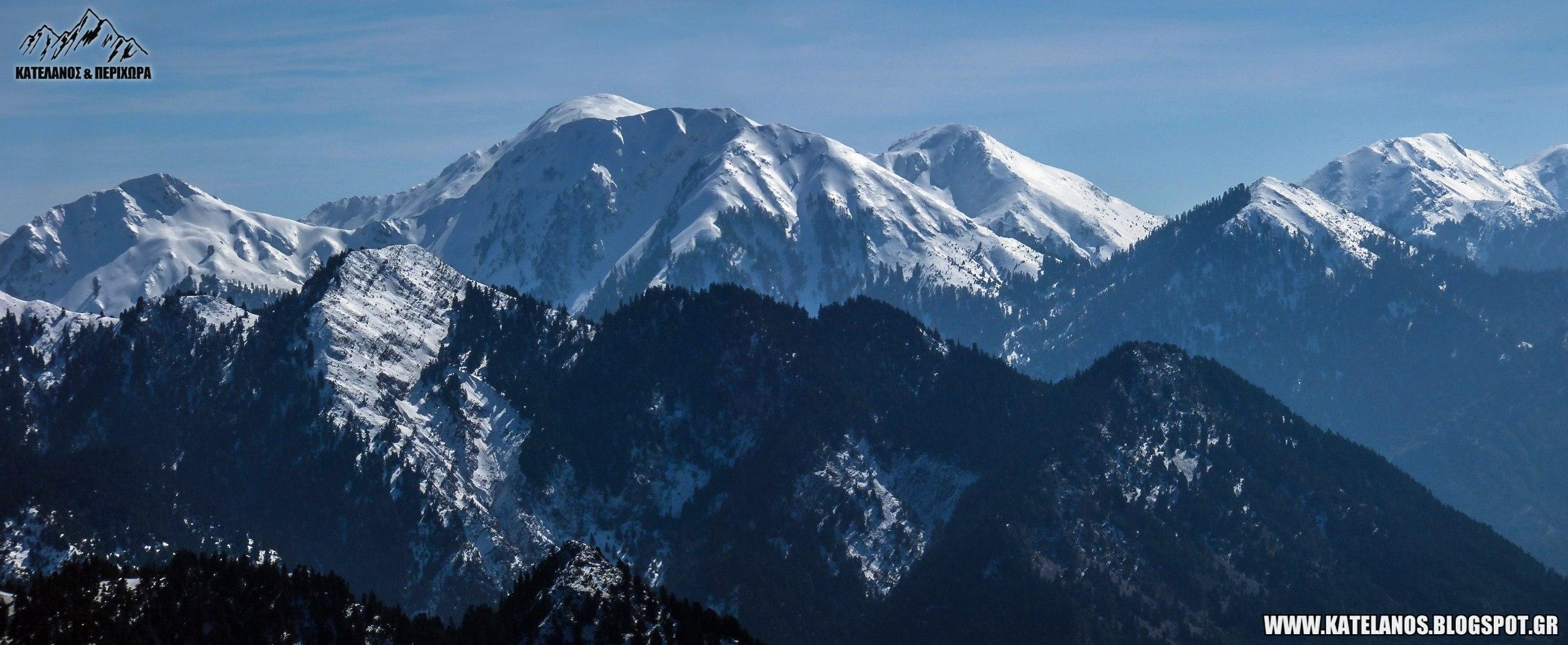 κατελανος βουνο χιονισμενο παναιτωλικο ορος κορυφες οροσειρα χειμωνας αιτωλοακαρνανια αξιοθεατα