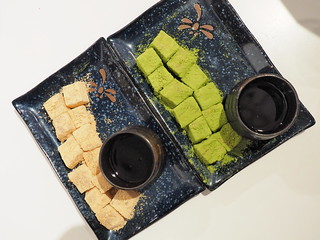 Top view of our Kinako Warabimochi and Matcha Warabimochi at Kakigori Taman Paramount | by huislaw