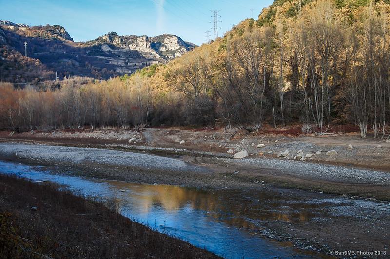 Río Llobregat a su entrada al pantano de La Baells