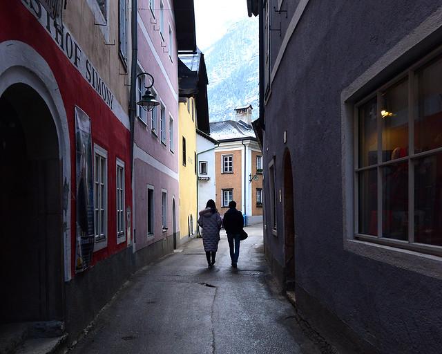Calles estrellas del centro de Hallstatt