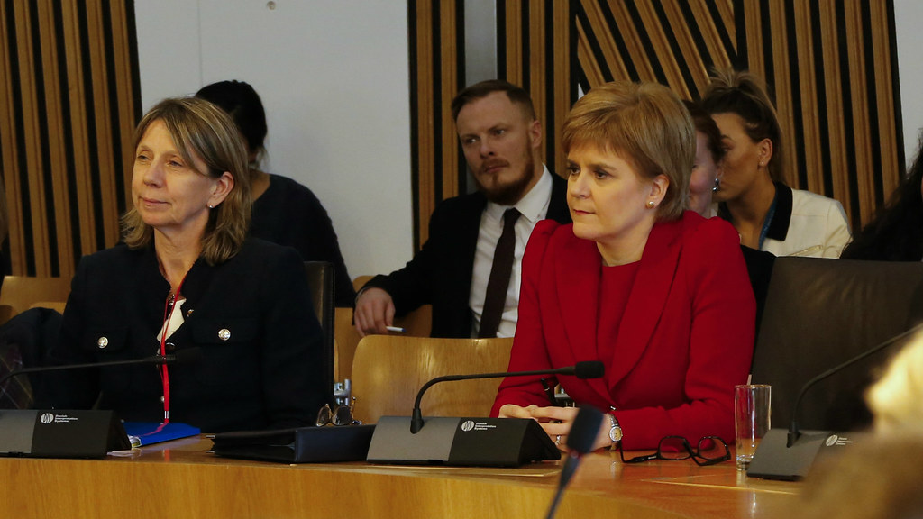 Professor Alma Harris with First Minister, Nicola Sturgeon