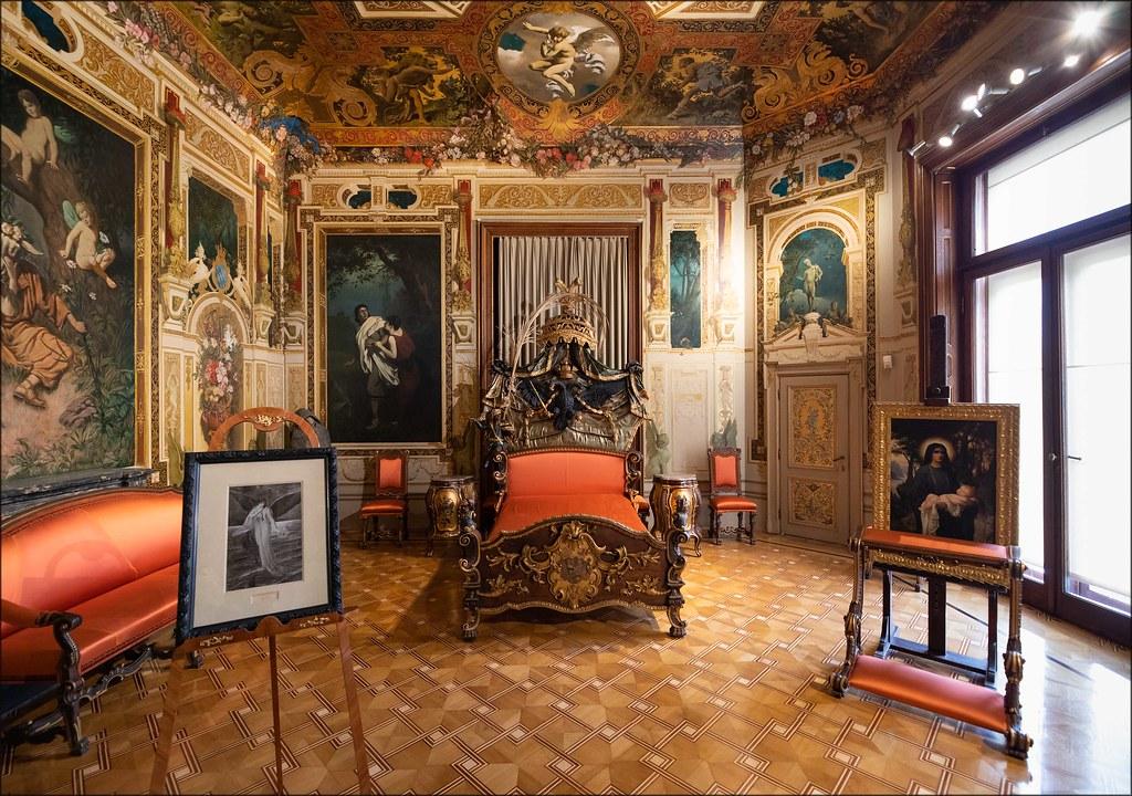 Hermesvilla, Schlafzimmer (Wien; Österreich) | Alexander Russy | Flickr