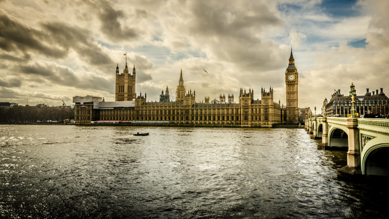 Image of Westminster from the Thames.