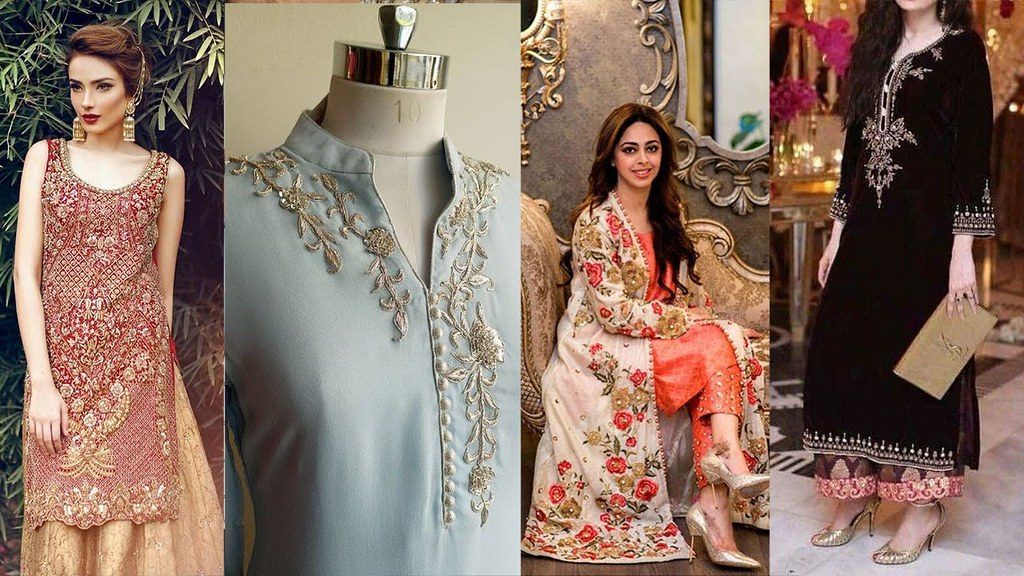 Latest Stylish Hand Embroidery Designs For Kurti Frocks Sh Flickr