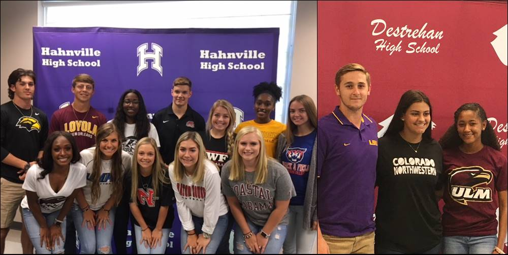 Hahnville and Destrehan signees