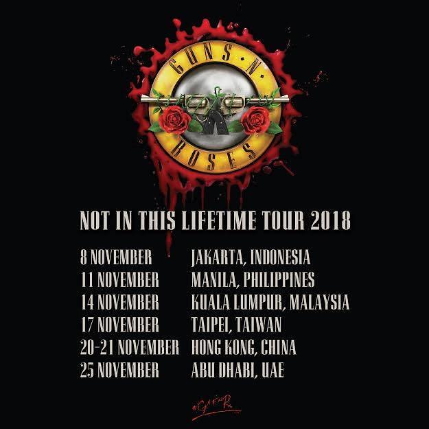 Guns N' Roses trở lại Đông Nam Á vào tháng 11