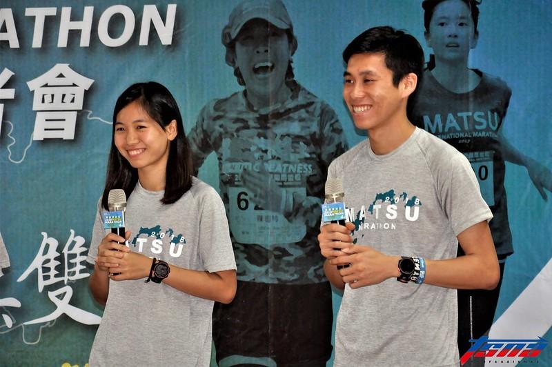 張芷瑄(圖左)與陳秉豐瞄準東京奧運。(張哲郢/攝)