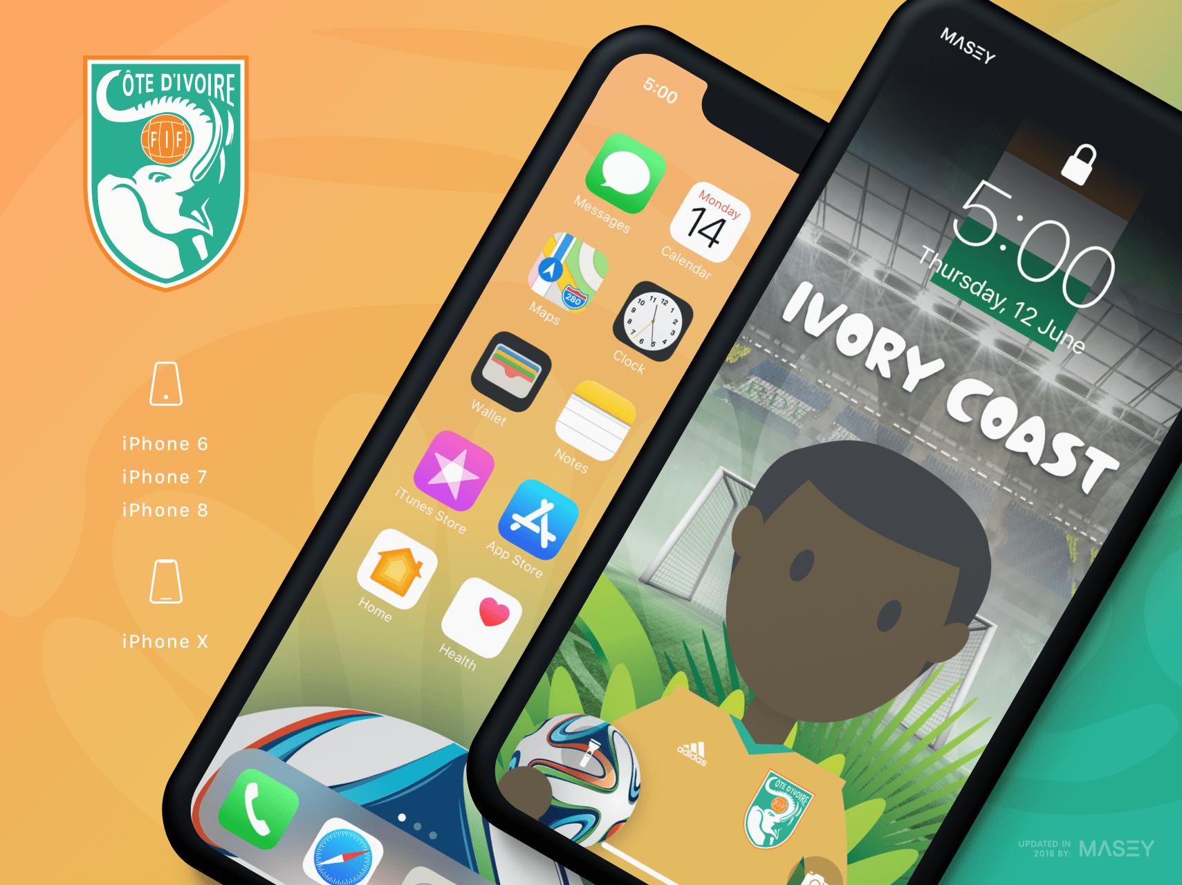 Team Ivory Coast iPhone Wallpaper