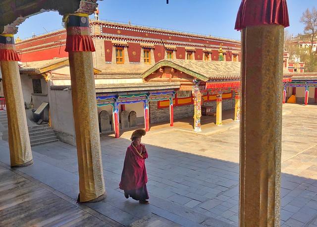 Monje en el monasterio Kumbum (China)