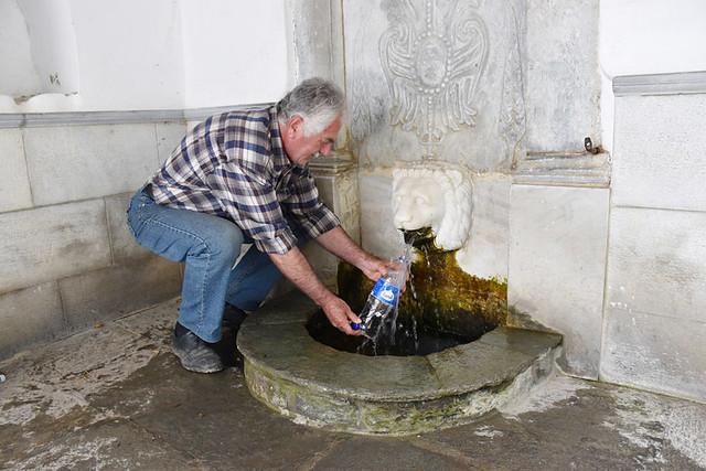 Local filling bottle from Sariza spring, Sariza circuit, Chora, Andros