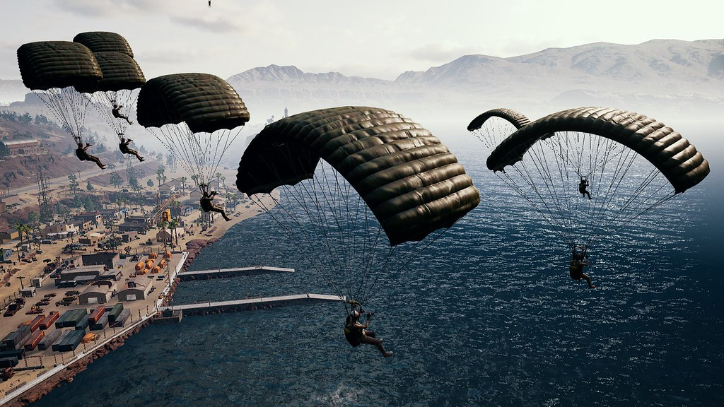 Image result for parachuting pubg