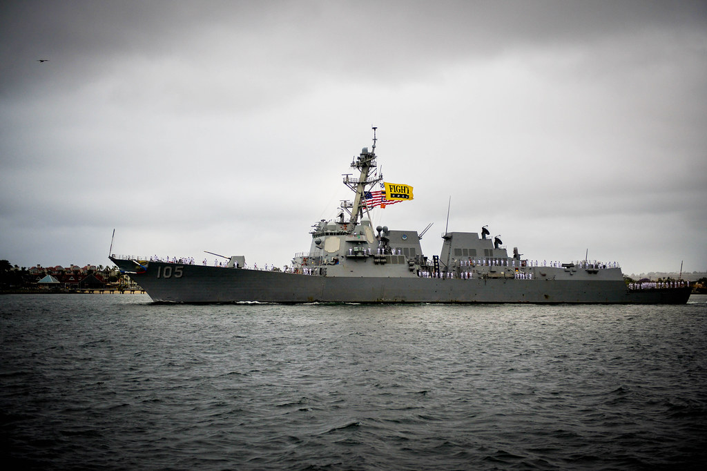 SAN DIEGO – The Arleigh Burke-class guided-missile destroyer USS Dewey (DDG 105) returned to San Diego May 11 following a 90-day deployment to the East China Sea, Philippine Sea, and western Pacific.