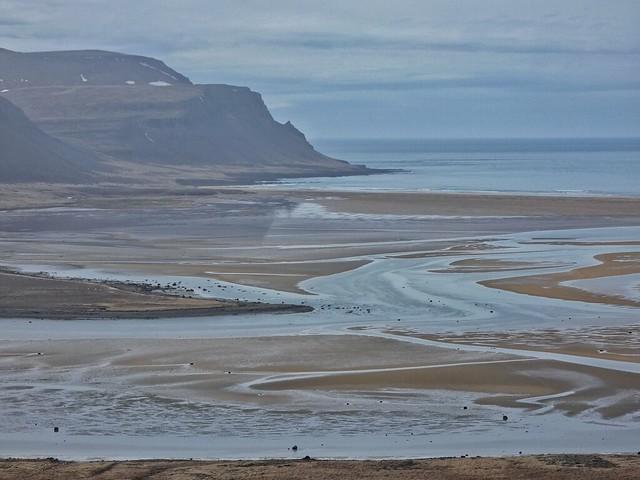 Playa Raudasandur cerca de Látrabjarg en los Fiordos del oeste (Islandia)