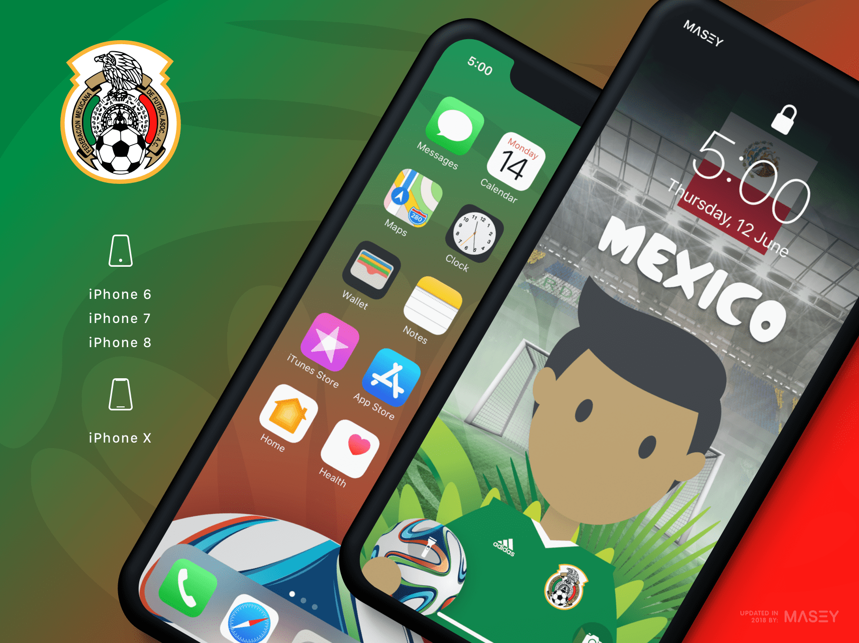 Team Mexico iPhone Wallpaper
