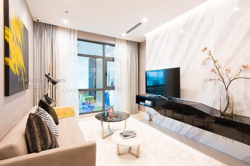 Nhà mẫu Richlane Residences Mapletree phòng khách