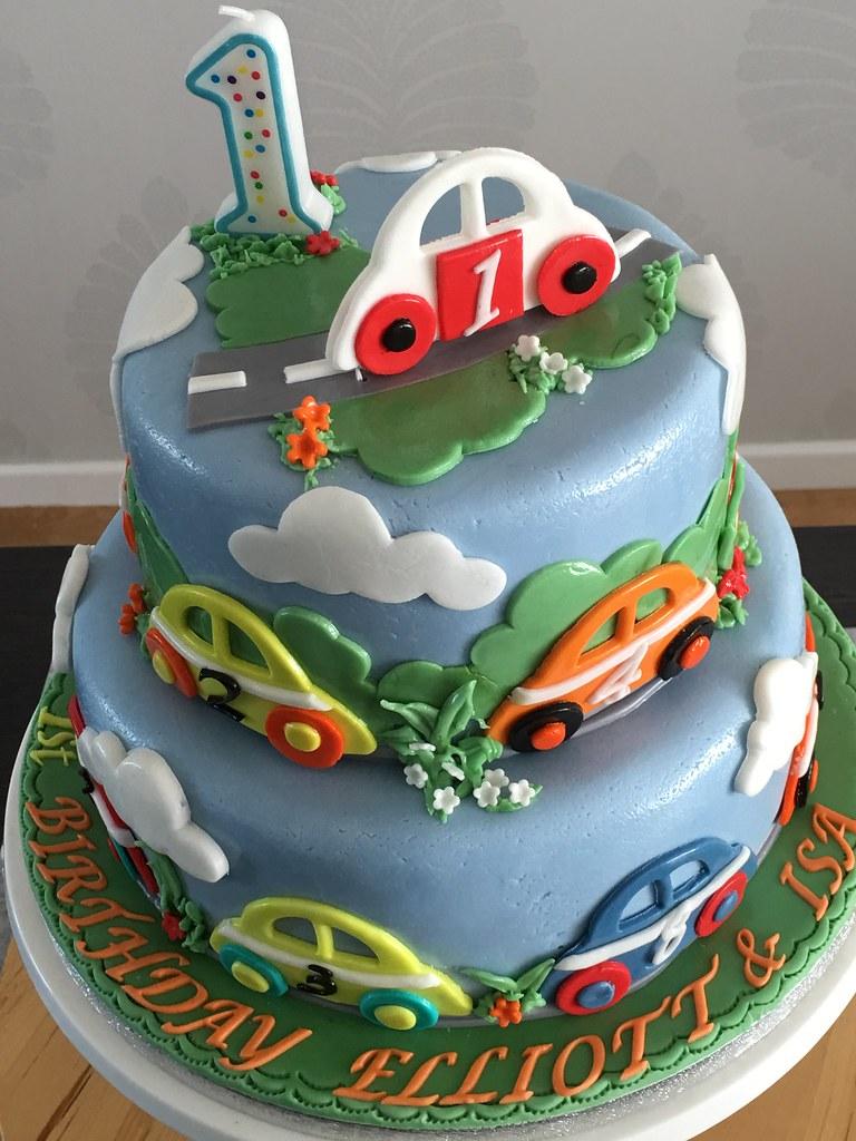 Baby Boy First Birthday Cake Spring Mayflower Flickr