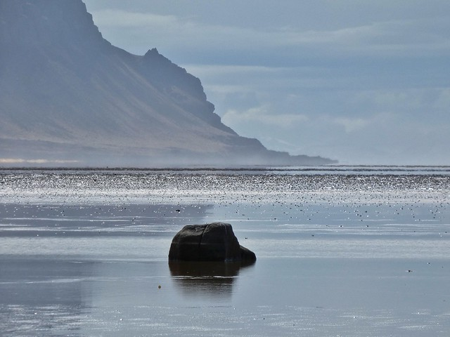 Playa Raudasandur (Fiordos del oeste, Islandia)
