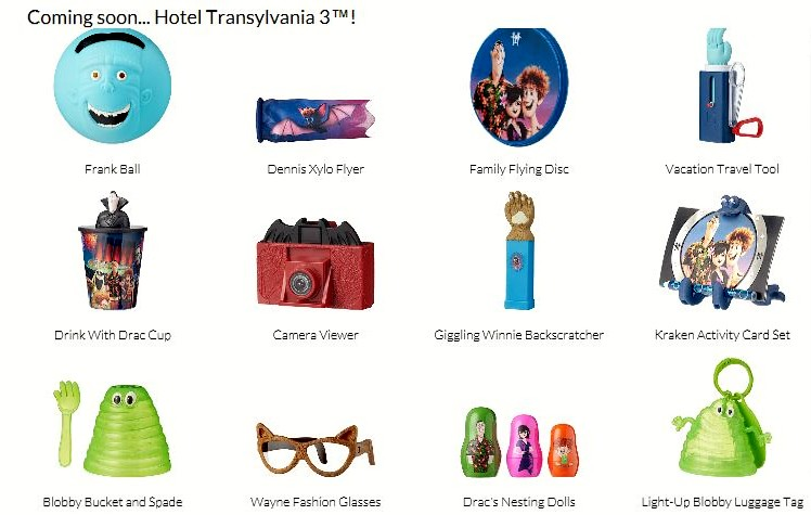 McDonalds Happy Meal Toys July 2018 Hotel Transylvania 3