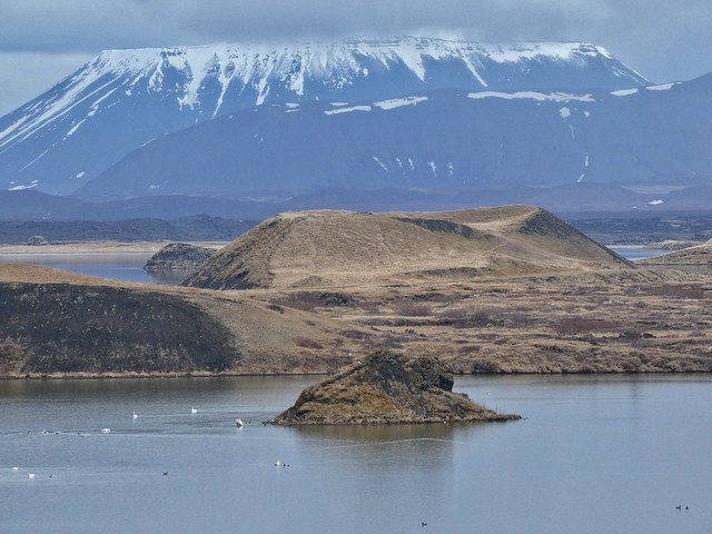 Pseudocráteres en el Lago Myvatn (Norte de Islandia)