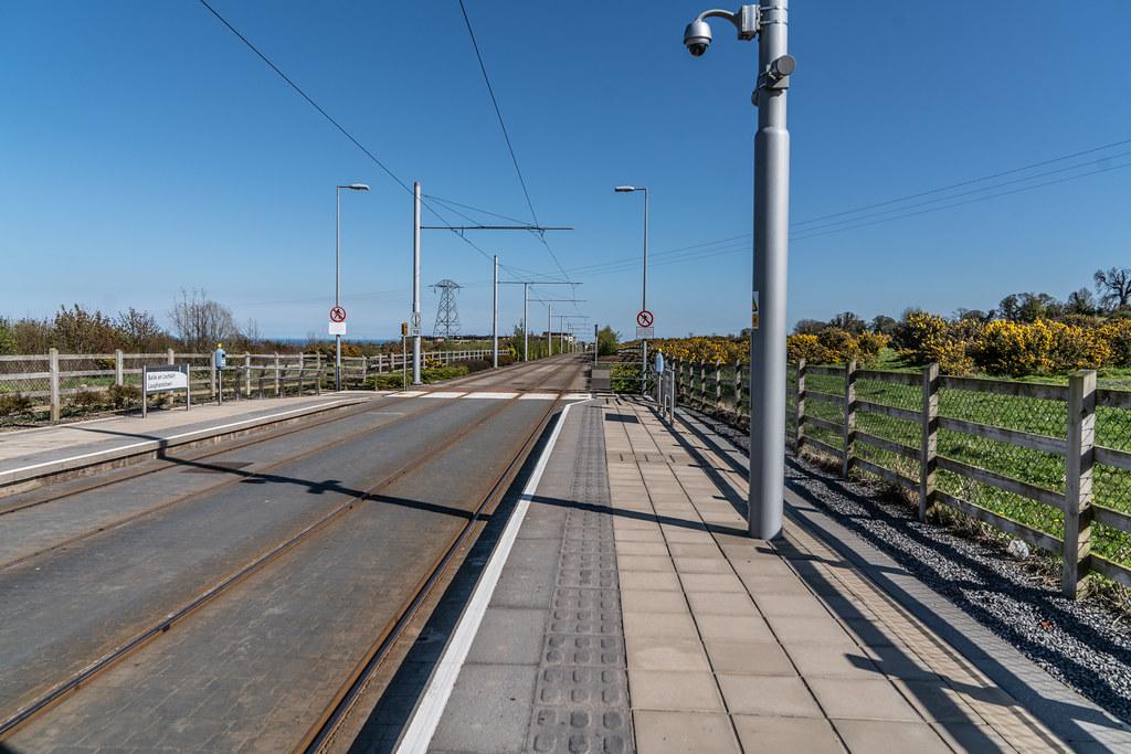 LUAS TRAM STOP AT LEHAUNSTOWN [GREEN LINE SERVICE] 001