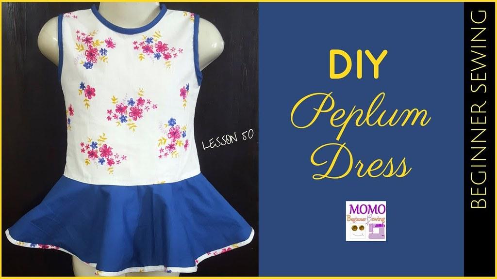 Diy Peplum Dress Sew Easy Peplum For Baby Beginners Flickr