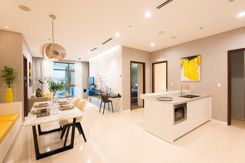 Nhà mẫu Richlane Residences Mapletree - phòng khách