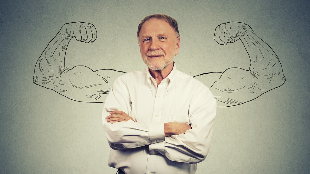 stock image of an older man