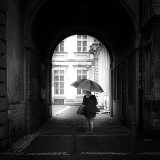 Woman With Umbrella Koen Jacobs Flickr