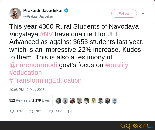 4360 Rural Students of Navodaya Vidyalaya Qualify for JEE Advanced 2018