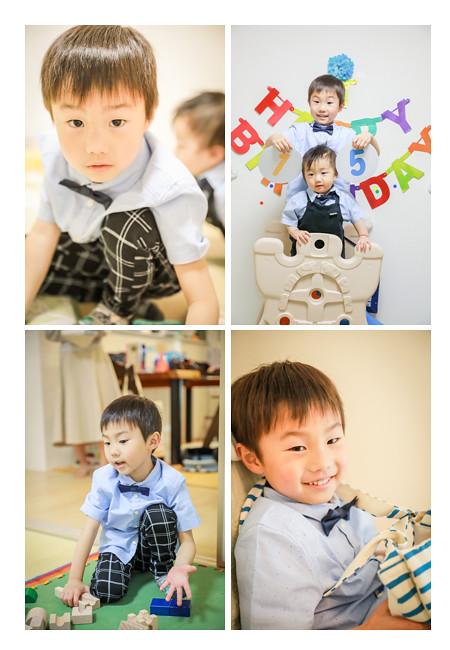 出張カメラマンが撮るご自宅で男の子兄弟の誕生日を祝う家族写真(名古屋市西区) ポーズを作らず自然