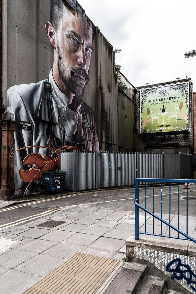 A large portrait by Smug One In Belfast 001