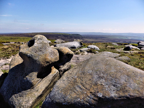 Looking towards Grinah Stones from Bleaklow Stones